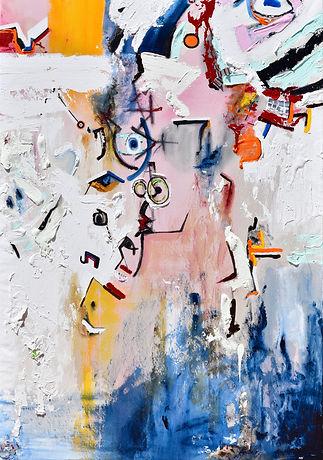 Disembodiment by Oppression_Dana-Marie Bullock_66 x 46 inches_Acrylic, oil pastel, aluminu