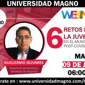 """Universidad Magno / Webinar: """"6 retos para la juventud en el mundo post-Covid 19"""""""