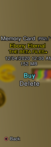 Ebony Eternal: The Beta Files