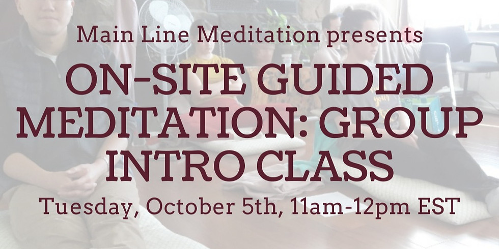 On-site Guided Meditation: Group Intro Class