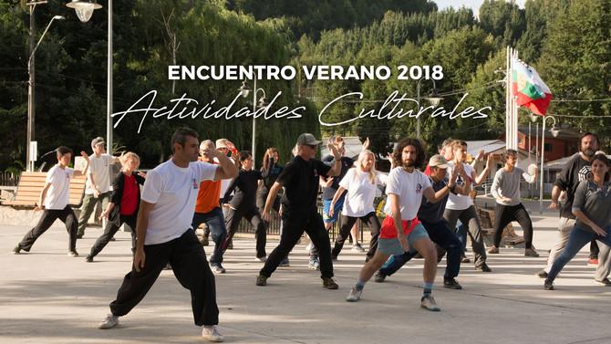Encuentro de Verano 2018: Actividades Culturales