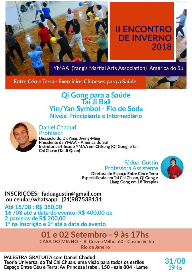 II Encuentro de Invierno YMAA Sudamerica Rio de Janeiro
