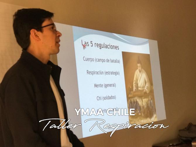 En charla de YMAA Chile se explicó conceptos básicos de la respiración para la práctica de Chi Kung