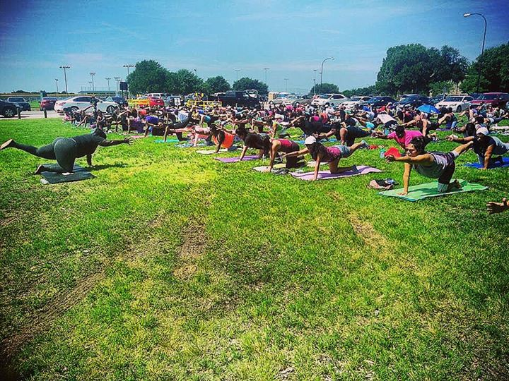 This tho! Had the pleasure of leading 150 beautiful people in Yoga today! What an wonderful experien
