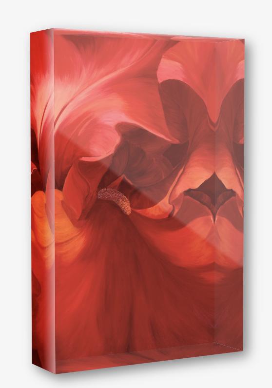 Alizarin, acrylic block