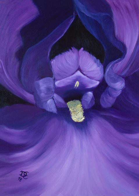 Evoking Violet 60x70cm