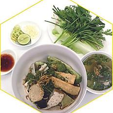 Hủ tiếu khô chay   Vegetarian dried rice noodles