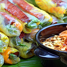 Bò Bía Chay | Vegetarian Popiah