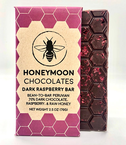70% Peruvian Dark Raspberry Chocolate Bar