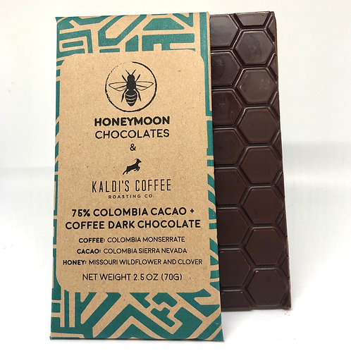 75% Colombia Cacao + Coffee Dark Chocolate