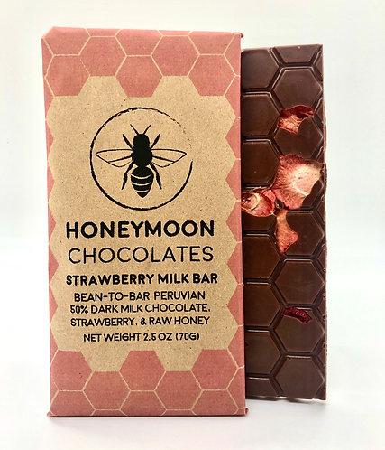 50% Strawberry Peruvian Milk Chocolate Bar