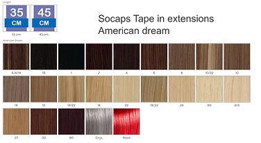 socaps kleuren tape extensions American
