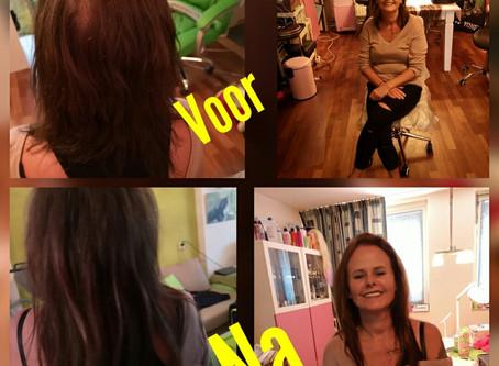 3 tinten bruin en lang haar voor Anja