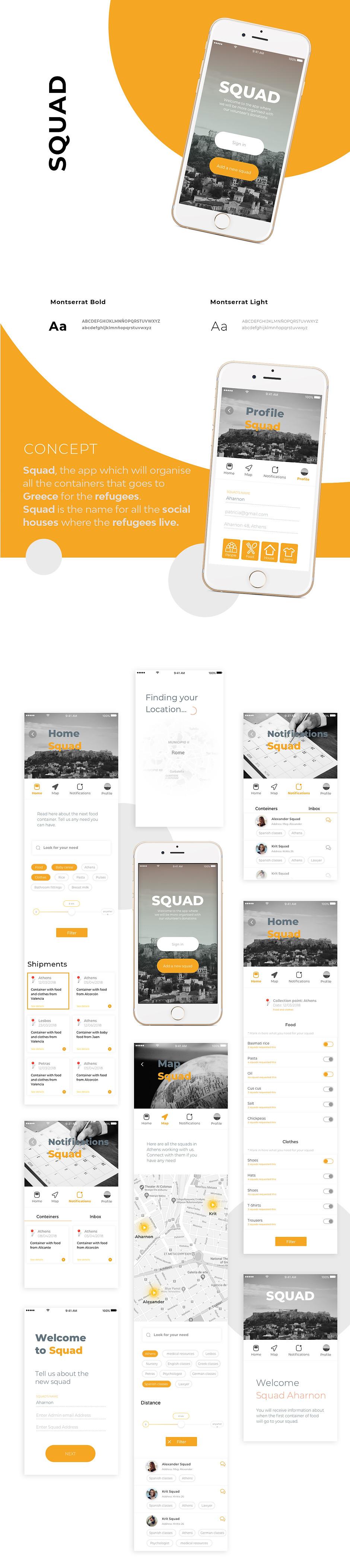 Squad app view