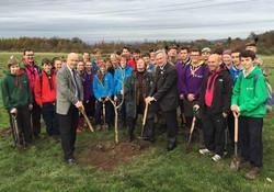 Commemorating WW1 at Dreghorn wood