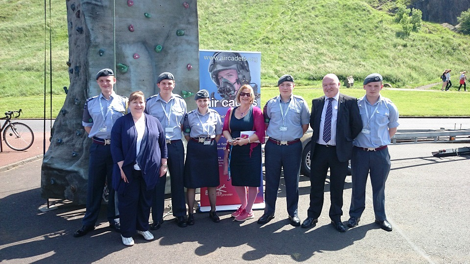 Supporting the work of the Air Cadets