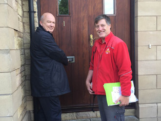 Gordon MacDonald MSP gets First Class experience as he turns postie for the day