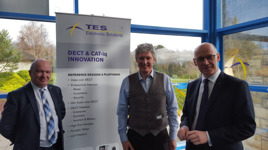 Visiting TES with John Swinney