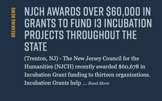 VBP receives NJCH 2019 Incubation grant