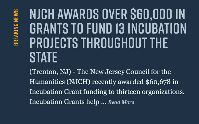 VBP receives NJCH 2019 Incubation grant