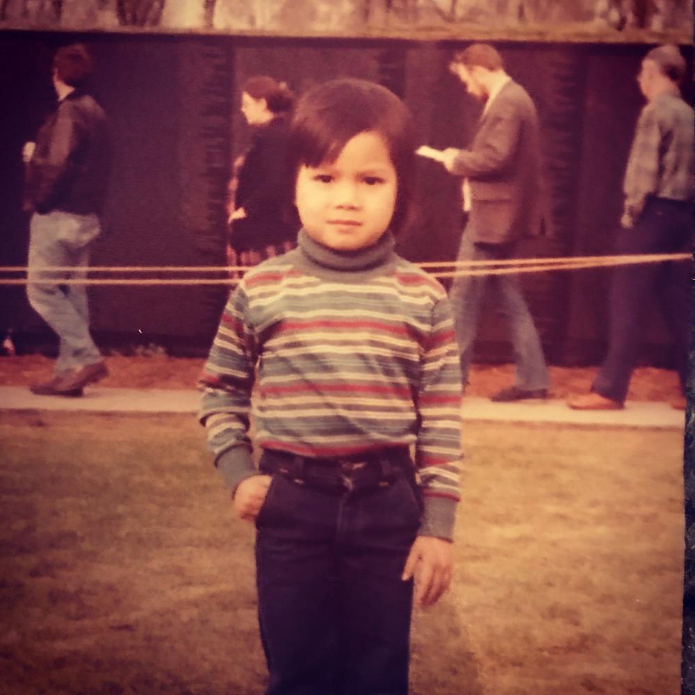 me in front of the Vietnam Memorial