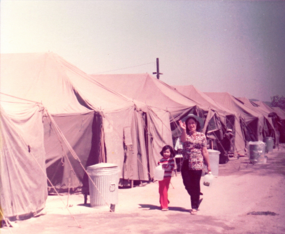 Kristen (5 years old) with her mom in 1975 at Camp Pendleton