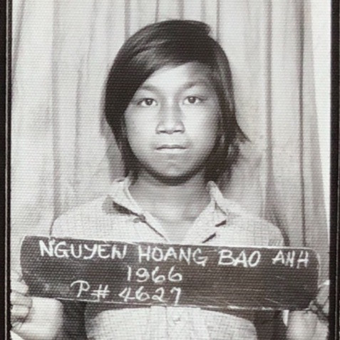 My brother's refugee photo when he arrived to Manila camp.