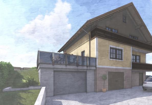 Zubau Garge + Terrasse