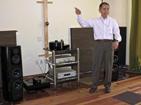 Sony's Yuki Sugiura conducts the orchestra in Music Lovers' Reference Room