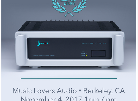Spectral Audio 40th Anniversary Event - Music Lovers Berkeley 11/4/17 - Join us!