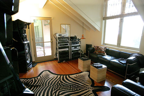 Custom High End Stereo System featuring Wilson Audio, Spectral Audio, dCS, Grand Prix, and a turntable in San Franciso Bay Area by Music Lovers.