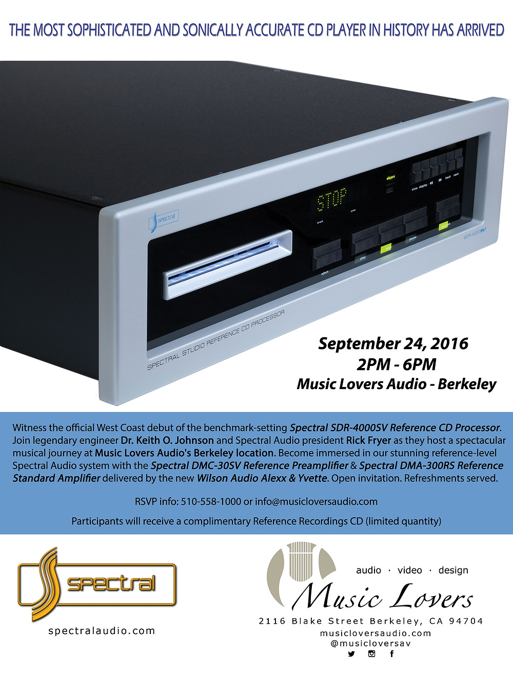 Music Lovers Audio - Spectral Event Ad