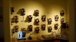 Headphone wall in Berkeley