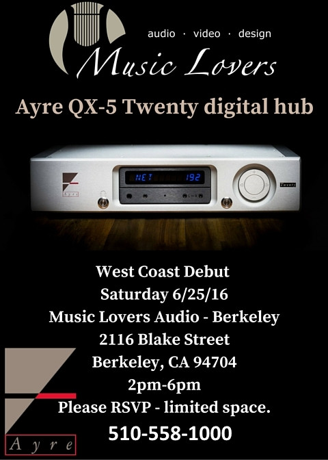 Ayre QX-5 Event Flyer