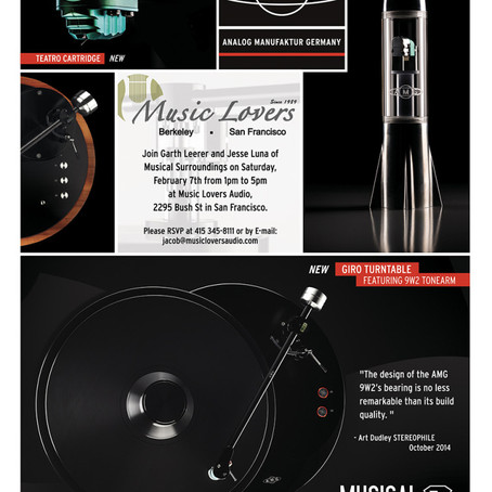 Musical Surroundings/AMG Event @ Music Lovers SF - Saturday February 7th