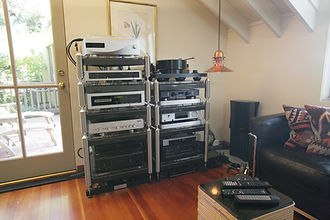 High End Audio Stereo Setup in customer home in Bay Area by Music Lovers.