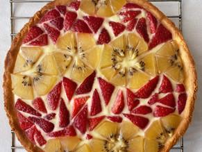 Strawberry & Golden Kiwi Fruit Tart