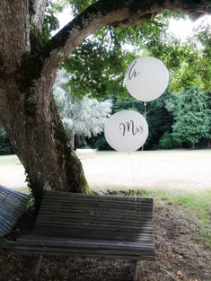 ballons géants Mr and Mrs