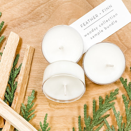 woodsy collection tealight bundle