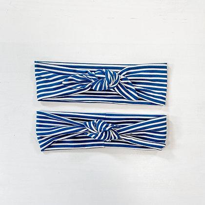 navy striped | headband
