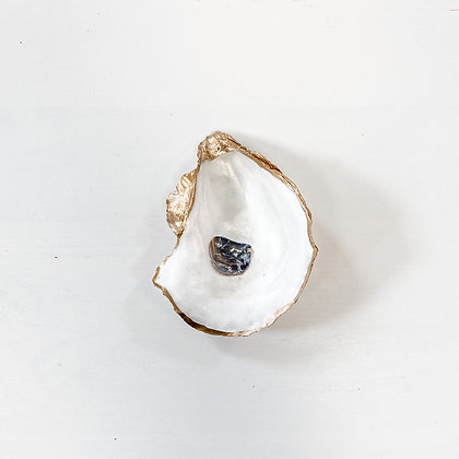 natural shimmer | oyster shell ring dish