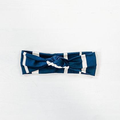 black + white striped   headband