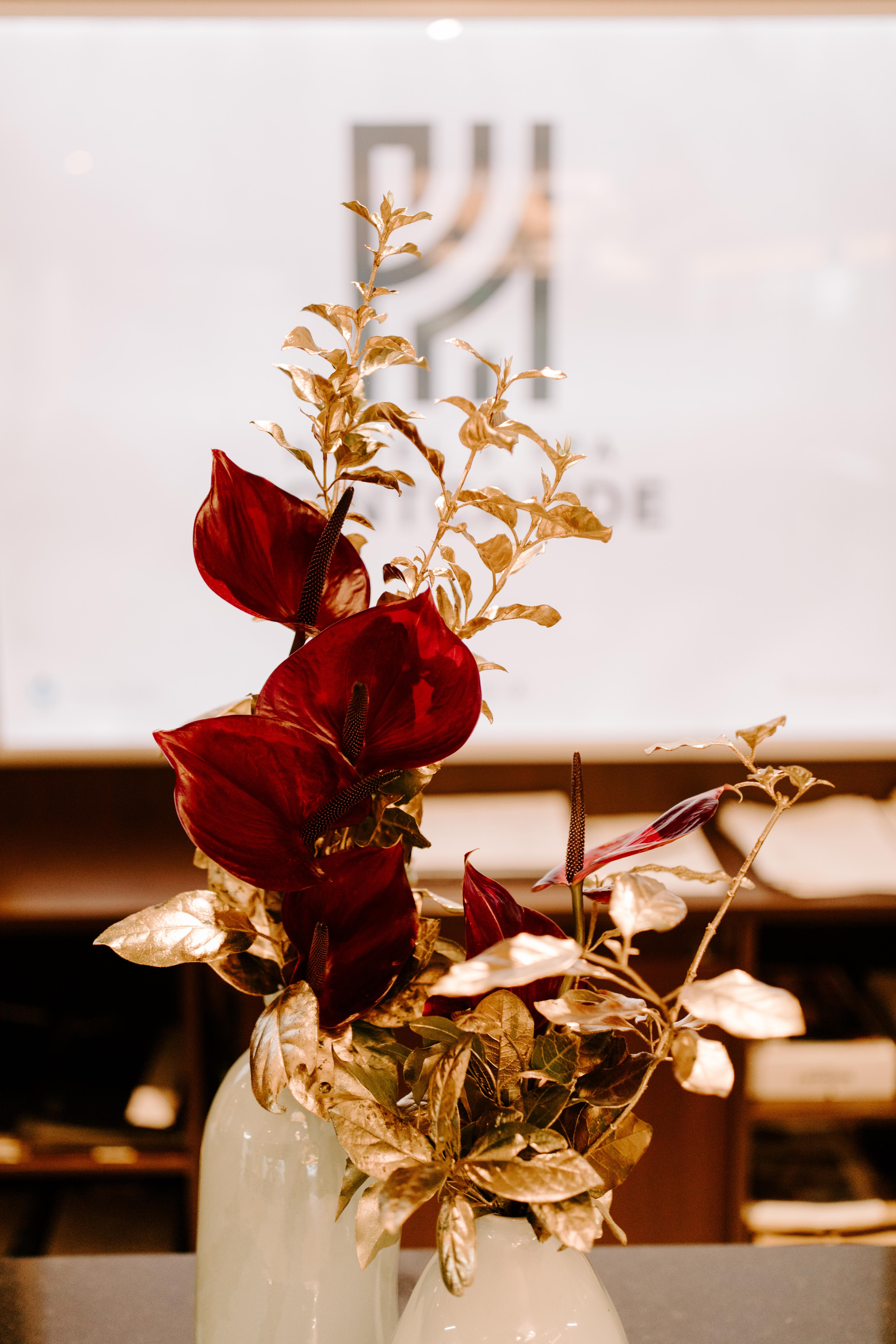 composition florale noel