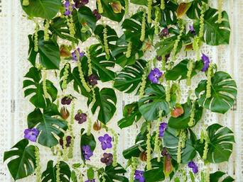 Mur floral pour l'élection de Modèle élégance à la Voile Bleue
