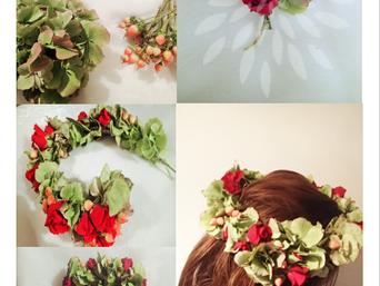Tuto couronne de fleurs fraîches