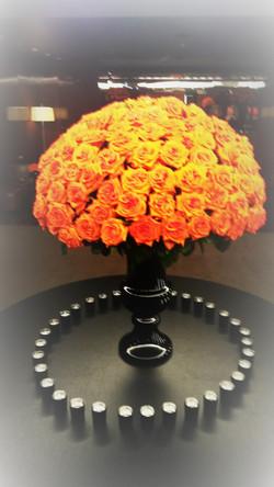 roses orange fleuriste montpellier