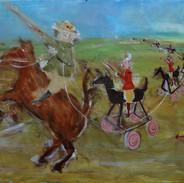 Monash leading the British into the Battle of Passchendaele