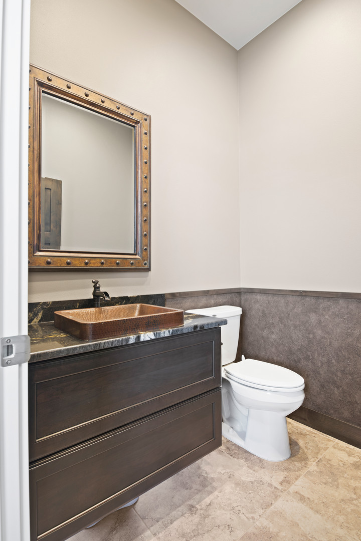 Hanging Vanity with Copper Sink