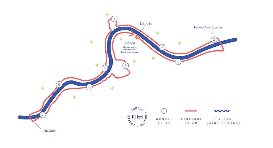 Carte du parcours 10 km