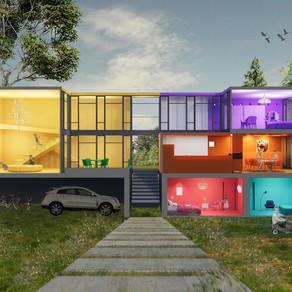 [실내건축설계(1)] 조혜신 | COLOR CUBE HOUSE